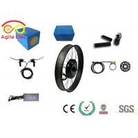 Adjustable Speed  Fat Tire Electric Bike Conversion Kit For Long Travel Distance