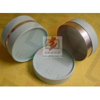 Quality Small Composite Paper Cans Packaging UV Coating with Ribbon for sale