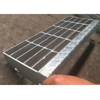 Quality Serrated Grating Stair Treads Galvanized Feature Mild Steel Material for sale