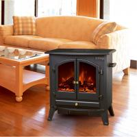 Buy Big MDF Freestanding Electric Fireplace Heater Remote Control log flame light electric stoves ND-20A1 Indoor heater at wholesale prices