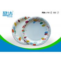 Quality 9 Inch Colored Disposable Paper Plates With Shiny Oil Coated Surface for sale