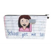 Quality Custom Printed Zippered Cosmetic Bag , Makeup Brush Travel Bag For Girls for sale