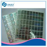 China Custom 2D / 3D Holographic Sticker , Die Cut Self Adhesive Hologram Sticker on sale