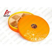 Quality Large Round Storage Boxes With Lids , Two Pieces Flat Pack Cardboard Gift Boxes for sale