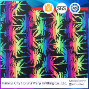 Quality UPF 50 Swimwear Fabric Tropical Print Nylon Polyamide Spandex Lycra Stretch Bikini Bathing Suit Fabric for sale