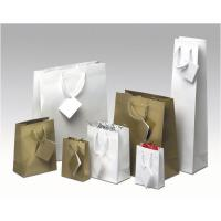 Quality Transfer Printing White Paper Custom Printed Gift Bags for Shopping for sale