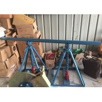 Buy cheap Line Construction Wire Reel Stands , Ton Adjustable Cable Jack Stands from wholesalers