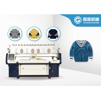 Quality Double System Intarsia Computerized Flat Bed Knitting Machine for sale