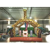 Buy Amusement Park Custom Made Inflatables Giraffe Bounce Combo Enviroment - Friendly at wholesale prices