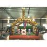 Amusement Park Custom Made Inflatables Giraffe Bounce Combo Enviroment - Friendly