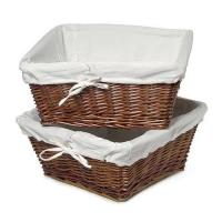 Quality Large Wicker Storage Basket with Liner, Cherry for sale