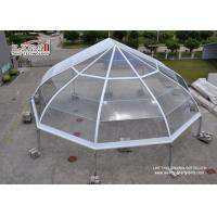 Quality Transparent Curved TFS Tents with Metal Frame and Waterproof Clear Roof for sale