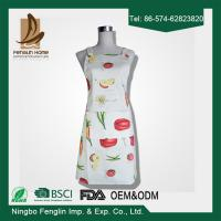 China Womens / Mens Home Cooking Cotton Bib Aprons Vegetable Printed 70x80cm on sale
