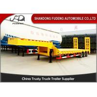 China 3 Axles Low Bed Semi Trailer Sale  In  Africa 50 Ton With Ramp 12 Wheelers on sale