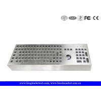Quality Machine Industrial Keyboard With Trackball Desktop Stainless Steel Keyboard for sale