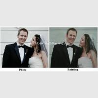 Quality Canvas Custom Oil Painting Portraits From Photographs Hand Painted Wedding Portraits for sale