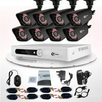 Quality Commercial 8 Channel DVR Surveillance System Wireless IP Camera CCTV KIT for sale