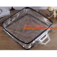 Quality Eco-friendly wholesale travel cosmetic bag clear zipper pvc cosmetic bag for women for sale