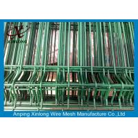 Powders Sprayed Coating Welded Wire Mesh Fence For Courtyard Dark Green Color
