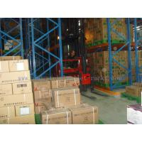 Quality Pallet Storage Very Narrow Aisle Racking Warehousing Management System Orange for sale