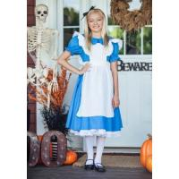 Quality Holiday / Carnival Teenage Girl Halloween Costume Child Deluxe Alice Dress for sale