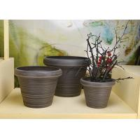 China Eco - Friendly PSW Plastic Plant Pots Weather Resistant Plastic Wood Stone Garden Container on sale