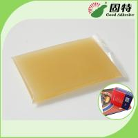 Quality Gelatin resin Amber color Block solid Light Amber High Heat Glue / Hot Melt Glue For Semi Automatic Case Maker for sale