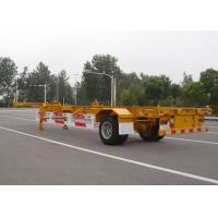 Quality 1 Axle Gooseneck 40 Feet Skeleton Semi Trailer For Cargo Container Transport for sale