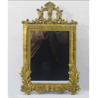 Buy cheap Home Decorative Resin Wall Mirror With Large Leaf And Pedimental Crown from wholesalers
