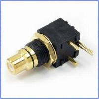 China Mount Molding Type RCA Jack with Gold Plating, Applied to High-end Audio and Video Equipments on sale