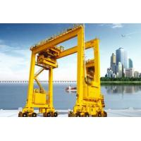 Quality Outdoor Rubber Tired Container Gantry Crane , Double Girder Motorized Gantry Crane for sale