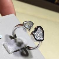 Quality 0.22 Carat Natural Diamonds 18K Chopard Happy Hearts Ring Handmade No Stone for sale