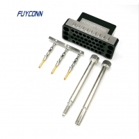Quality V.35 Male Crimp Housing Connector with Metal Shell For Etherlink for sale