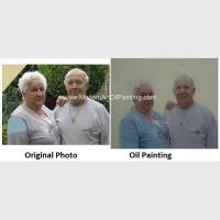 Contemporay Custom Oil Painting Portraits Aged People Portrait Oil Paintings On Canvas