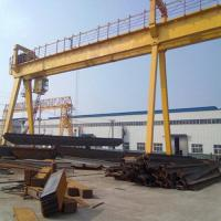 Quality 50T Double Girder Gantry Crane Electric Hoist Outdoor Rail Mounted 380V for sale