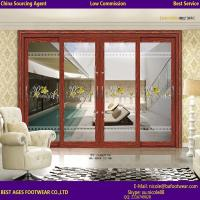 Quality Certification Double glazing glass aluninum frame interior Accordion door for sale
