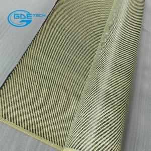 Quality carbon kevlar hybrid fabric, GDE waterproof kevlar fabric 3K Carbon Fiber Fabric, KEVLAR FIBER FABRIC for sale
