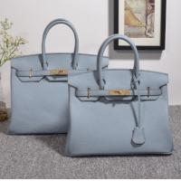 Quality high quality 35cm women light blue Togo leather handbags fashion brand handbags designer handbag H-Y37 for sale