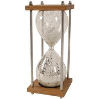 Quality Wholesale handmake unique clear hourglass with Iron, sand timer, sand clock for sale