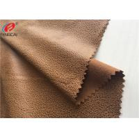 Quality Polyester Embossed Micro Suede Sofa Fabric , Faux Bronzed Suede Fabric for sale
