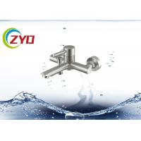 Quality High Reliable Wall Mount Sink Faucet , SS Material Single Hole Bathroom Faucet for sale
