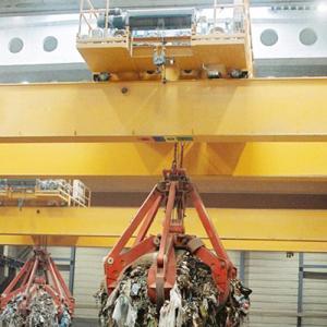Quality 5T 10T 16T 20T Waste Handling Clamshell Garbage Crane , Double Girder Bridge Crane for sale