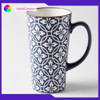 Buy cheap 440ml Stoneware Coffee Mugs Large Capacity Tall With Personalised Logo from wholesalers