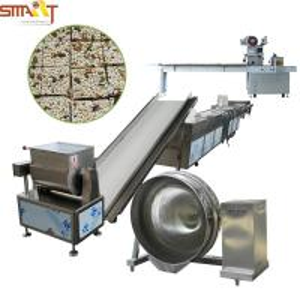 China Full Automatic Cereal Bar Machine/Puffed Rice Bar Cut Machine/Puff Snack Machine on sale
