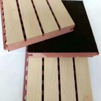 Buy cheap Eco Friendly Mdf Acoustic Soundproofing Panels / Grooved Wood Panel from wholesalers