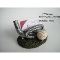 China Resin golf business card holder on sale