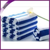 Quality Full Yarn Dyed 100% Cotton Striped Towels Pool Beach Towel 75*150cm for sale