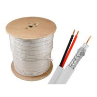 Quality SINOWELL Copper CCA CCS Power + rg6 siamese cable 1000 ft Spool Indoor for sale