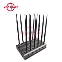 Buy cheap 12 - Way Cell Phone Signal Blocker Sweep Jamming Type With 6 - 8W / Band Output from wholesalers