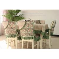 Quality Heavy duty floral and plaid patchwork tablecloth and quilting chair cover set, for sale